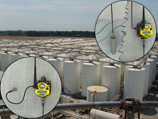 Wireless Tank Farm Monitoring in Unsafe or Harsh Conditions