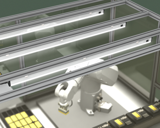 Highly Bright, Robust Lighting for Robotic Cells